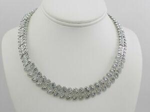 Swarovski Baron Rhodium-Tone All-Around Crystal Necklace