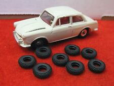 Very Small Treaded Tires for Dinky 60's, Misc., black, 14mm, Lot of 8, NEW!