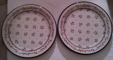 "2-Provence China Pattern #261 Bouquet Brown Chop Platters-12""~VERY GOOD PLATTERS"