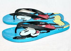 CROCS Adult Mickey Mouse Thong Flip Flop Sandal Men 9 Women 11 Blue Multi