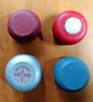 """Yo-Yo Lot of (4) Yo-Yos """"Olympic"""" Wood Some Repairs Wooden Vintage"""