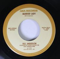 Country 45 Billy Anderson - Married Lady / Double S On Mca Records