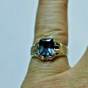 4.64+ CT Woman s are  MAN  S RING.RUSSIAN  LAB  ALEXANDRITE COLOR CHANGE