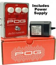 Electro Harmonix Micro POG Polyphonic Octave Generator Pedal w/ Power Supply EHX