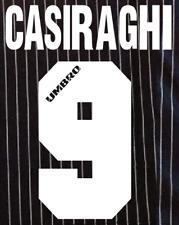 Lazio Casiraghi local Camiseta De Fútbol Número Letra calor fútbol un MAGLIA UMBRO