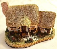 Rose Cottage by David Winter Figurine Hand Painted Signed 1980  Vintage