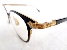 GUCCI Men's Optical Frame GG0068O TITANIUM Black/Gold 140 MADE IN JAPAN - New!