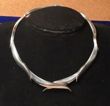 Erika Hult de Corral Ric Mexican Sterling Silver Modernist Choker Necklace