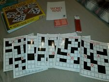 Word War Competitive Crossword Travel  Game Vintage Never Played Execellent EUC