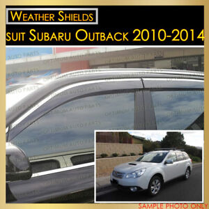 Weather shields Window Visor Weathershield Chrome suit Subaru Outback 2010-2014