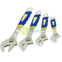"4 Piece Heavy Duty Soft Grip Adjustable Spanner Wrench Spanners 6"" 8"" 10"" 12"""