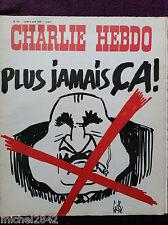 CHARLIE HEBDO # 177 1974 Pompidou Gébé Reiser Wolinski Cabu Willem Choron Cavann