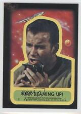 1976 Topps Star Trek Stickers #9 Kirk beaming up! Non-Sports Card a8x