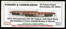 LMH Funaro F&C 7071  PENNSYLVANIA F23 PRR 30' HD Heavy Duty Flatcar TWO (2) Cars
