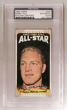 BOBBY HULL SIGNED TOPPS 1964 CHICAGO BLACKHAWKS HOCKEY CARD #107 PSA/DNA Auto
