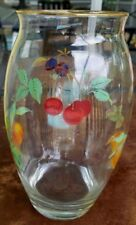 "Royal Worcester Evesham Gold Glass Vase 9"" tall English"