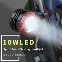 Spirit Beast 10W Motorcycle LED Spotlight Fog Lamp Lights for Kawasaki Suzuki