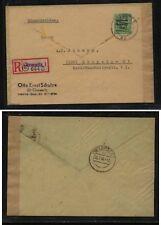 Germany  soviet zone  stamp on cover, envelope reused  ,  registered      MS0424