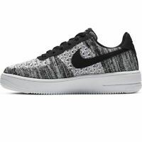 Nike Air Force 1 Flyknit UK Size 5.5 Women's Trainers Black White Shoes