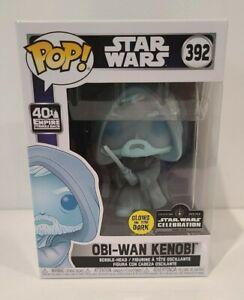 Obi-Wan Kenobi #392 Star Wars Glow Vinyl Figure LE 3000 Funko Pop!