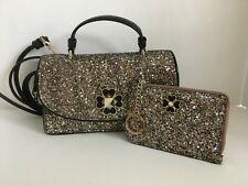 Kate Spade (WKRU6366) Odette Glitter Crossbody & Matching Card Case NWT$348