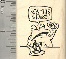 April Fool's Day Frog Rubber Stamp, Fake Fly Ice Cube G26706 Wm