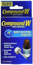 Compound W Wart Remover, Maximum Strength, Fast-Acting Liquid 0.31 oz ***
