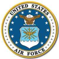 US Air Force USA sticker decal white gloss high grade vinyl