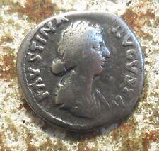 Faustina II (wife of M. Aurelius) AR Denarius. Rome, AD 161-164. Juno FAVSTINA