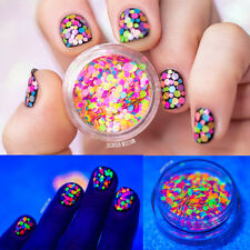 Nail Art Glitter Sheets 3D Decoration Colorful Round Thin Paillette Design