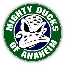 Anaheim Mighty Ducks NHL Hockey Head Logo Car Bumper Sticker Decal 5'' x 5''