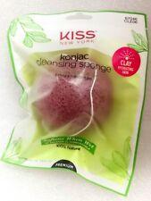 KISS NEW YORK KONJAC CLEANSING SPONGE EXFOLIATE & REPLENISH SKIN CLAY CLE06