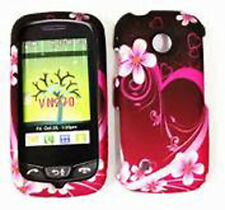 For LG Cosmos Touch VN270 Protector Hard Case Snap on Phone Cover Purple Love