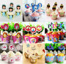 PACK OF 12 PRINCESSES GIRLS CUPCAKE WRAPPERS & TOPPERS BIRTHDAY PARTY SUPPIES