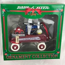 Radio Flyer Ornament 1996 Model #120 1930's Streak O Lite Red Wagon W/ Goodies