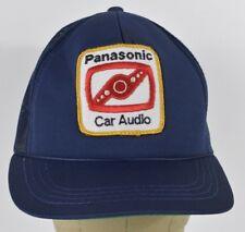 Navy Blue Panasonic Car Audio Patch Logo Trucker Hat Cap Adjustable Snapback