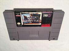 Full Throttle Racing (Super Nintendo SNES) Game Cartridge Vr Nice!