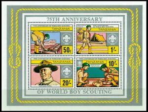 Tanzania 1982 MNH SS, Boys Scouts, Lord Baden Powell