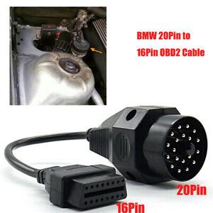 20 Pin to 16 Pin OBD2 Adapter Connector Scanner Cable for BMW E36 E38 E39 E46 Z3