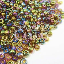 12/0 1.9mm 5000pcs Crystal Craft HematiteTube Seed Round Holes Bugles beads DIY