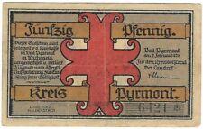 Notgeld - Kreis Pyrmont / Bad Pyrmont - 50 Pfennig 1921