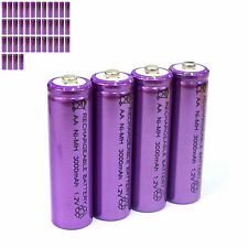 40 pcs AA LR06 3000mAh 1.2V NI-MH rechargeable battery CELL/RC MP3 SILVER PURPLE