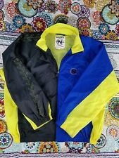 Nautica Competition Vintage Windbreaker Colorblock Jacket Mens Sz L Neon Volt