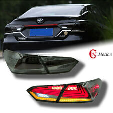 Led Tail Lights Fit For 2018 2019 2020 2021toyota Camry Smoke Rear Lamp Assembly