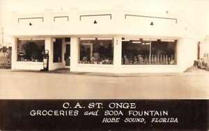 Hobe Sound Florida CA ST Onge Groceries and Soda Fountain Real Photo PC AA36100