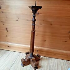 More details for ecclesiastical wooden altarchurch candlestick pricketholder carved 50cm tall