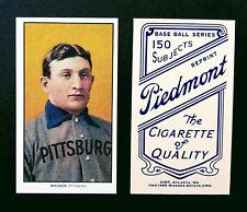 Honus Wagner 1909 T-206 Piedmont back Tobacco Baseball Card RP HOF