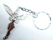 Tibetan Silver Grande Fée sur un en acier inoxydable porte-clés Cadeau Gratuit Sac Tinkerbell