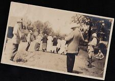 Old Vintage Antique Photograph People From Behind Walking Down the Road