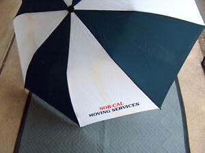 """Shedrain NOR CAL Bay Area Moving Services 48"""" Push Button Open Nylon Umbrella"""